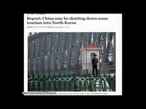 Report: China may be shutting down some tourism into North Korea. 4/9/2013