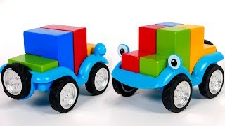 Learn Colors with Smart Car Toy Puzzle Playset for Kids