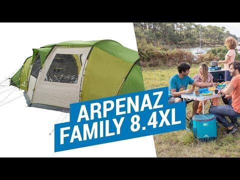Декатлон.Палатки Семейные.ARPENAZ FAMILY 8.4XL Установка