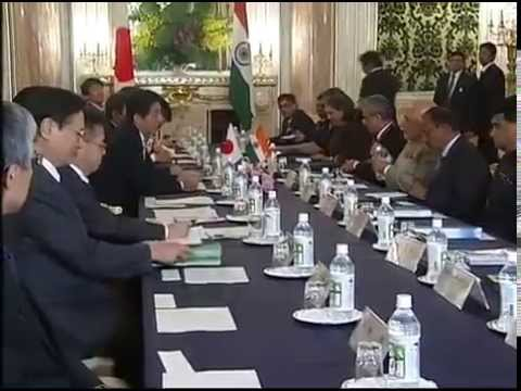 PM Modi & Japan PM Shinzo Abe at the Delegation Level Talks