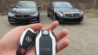 Luxury Sedan Fight! | '16 BMW 750i vs '16 Mercedes S550