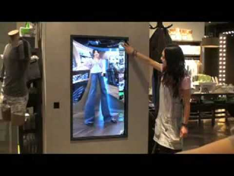 Interactive Mirror for DIESEL GINZA.flv
