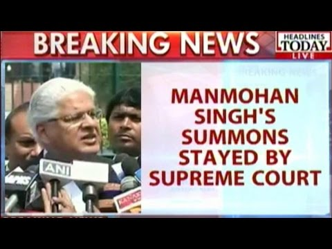 Manmohan Singh's Summons Stayed By Supreme Court