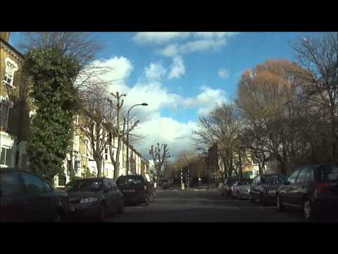 Car drive from Willesden to Chalk Farm, Camden Town, London - Tuesday 5th February 2013