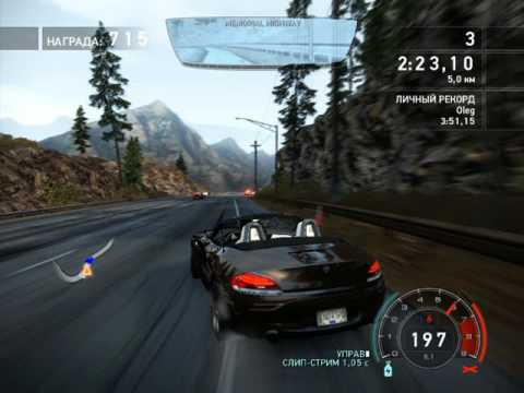 BMW Z4 sDrive35is -racing cars. need for speed hot pursuit. cartoons about cars