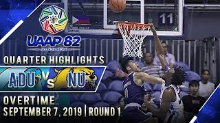 AdU vs. NU  - September 7, 2019  | Overtime Highlights | UAAP 82 MB