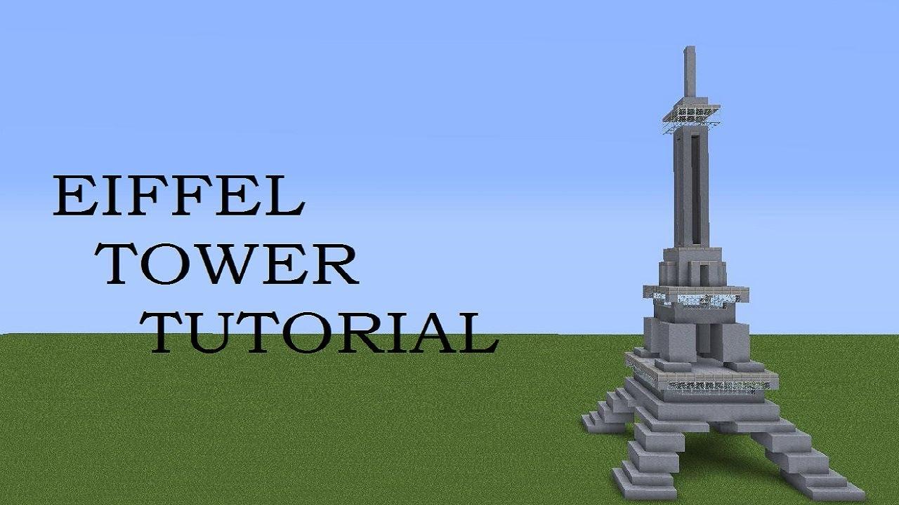Minecraft Eiffel Tower + Tutorial - YouTube