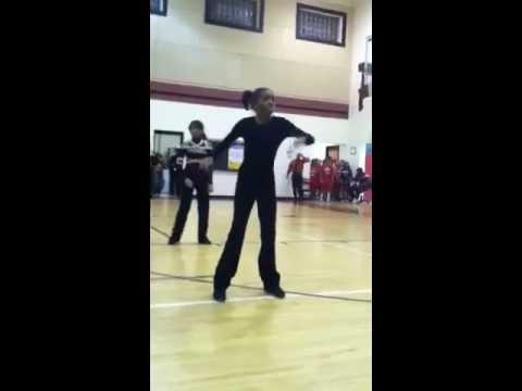 Gabi dancing at potomac middle school