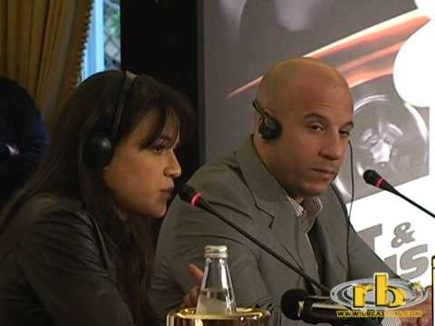 FAST AND FURIOUS con Vin Diesel - conferenza 2°parte - WWW.RBCASTING.COM