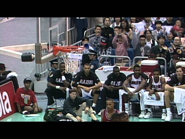 """Clyde Drexler """"Glides"""" Blazers Past Clippers in Japan - League Pass Look Back"""