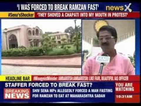 Shiv Sena MPs allegedly force Muslim staffer to break fast