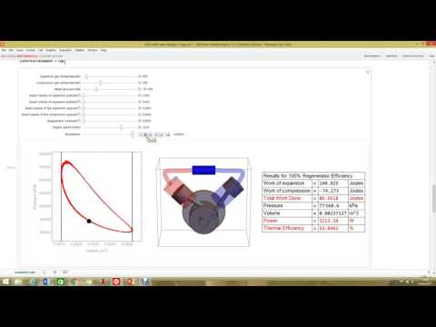 Simulation of an Alpha Stirling Engine