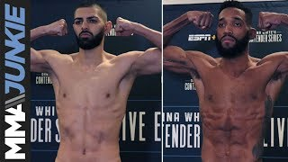 DWCS 25 official weigh in highlight