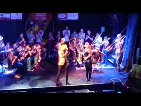 Hope Bank youth band at Brass Factor, Picturedrome