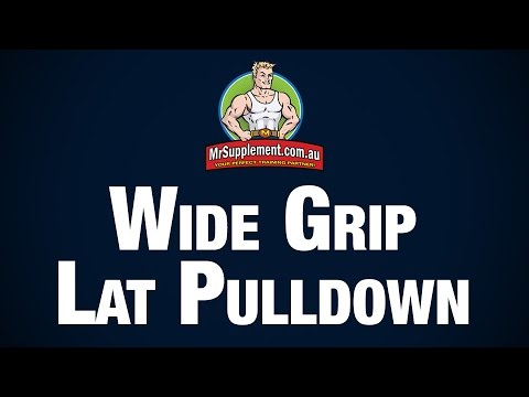 Wide Grip Lat Pull Down Technique Image 1