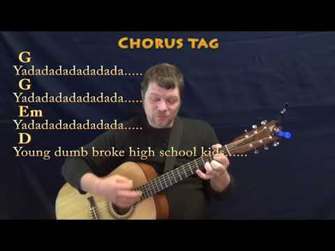 Young Dumb & Broke (Khalid) Guitar Cover Lesson in G with Chords/Lyrics - G Em D