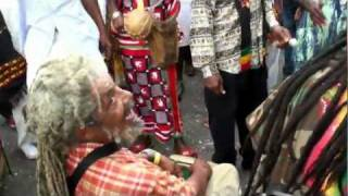 Nyabinghi drumming with Sizzla at Bob Marley Museum 2012