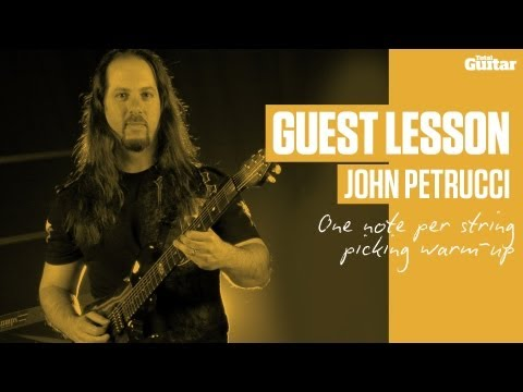 John Petrucci - One Note Per String Picking Excercise