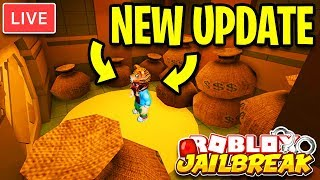 🔴 Jailbreak NEW UPDATE IS HERE! New BANK ROBBERY & JEWELRY STORE ROBBERY | Roblox Jailbreak LIVE