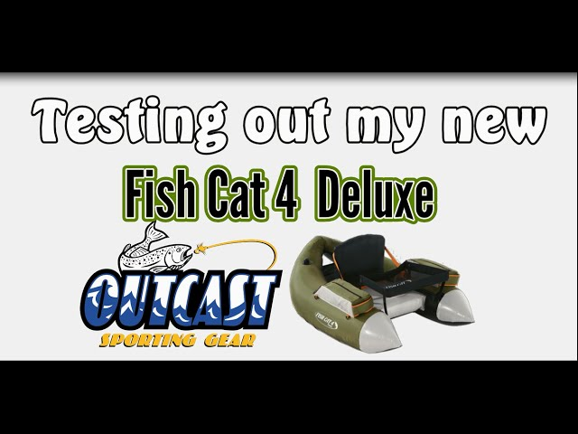 Bass Fishing in my Fish Cat 4 Deluxe Float Tube from Outcast Sporting Gear