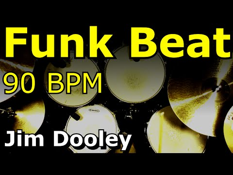 Backing Track - Funk Drum Beat 90 BPM Jim Dooley