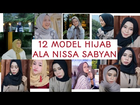 12 Model Hijab Ala Nissa Sabyan - Cara Berjilbab Nissa Sabyan