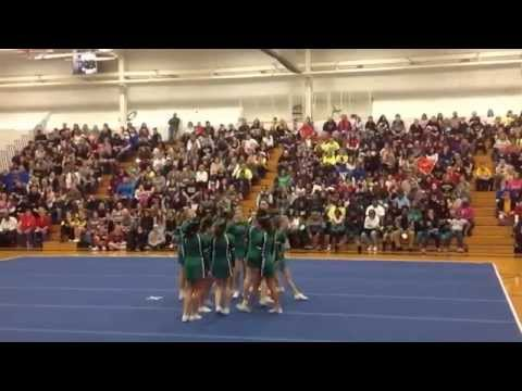 Providence Catholic High School JV Cheer at Oak Forest Comp - 03/28/2014