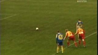 Jagiellonia - Arka Gdynia 2:2 XVII kolejka II ligi 2004/2005 - skrót