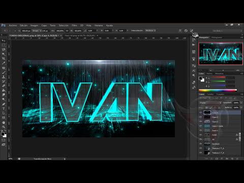 [Photoshop CS6][Texto De Vidro 3D Neon]