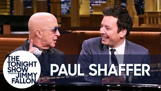 Paul Shaffer Noodles on the Piano While Jimmy Interviews Him About SNL, Letterman