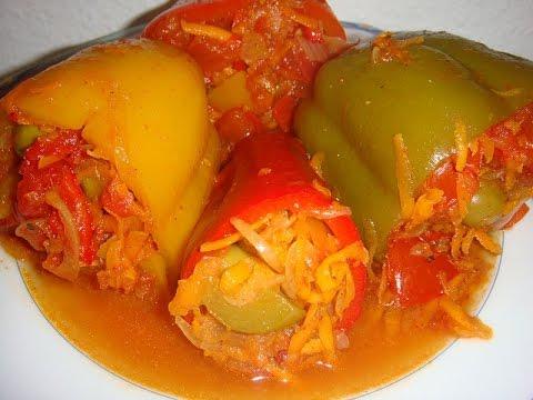 перец фаршированный овощами и рисом на зиму рецепт с фото