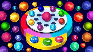 KidsCamp - Space Balls Dancing Machine Game on Finger Family Song