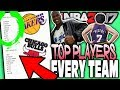 TOP PLAYERS FROM EVERY TEAM LIST! NBA 2K17 SQUAD BUILDER -