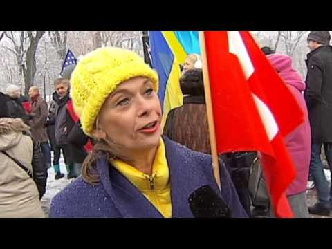 Expat Community Backs Ukraine: Foreign residents march in Kyiv on EuroMaidan anniversary