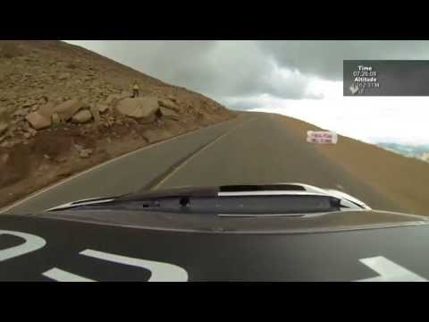 Sebastien Loeb 2013 Pikes Peak record climb in Peugeot 208 T16 (full run - RAW)