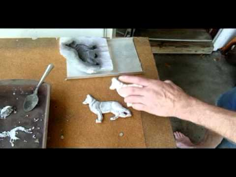 Lead casting with silicone caulk mold