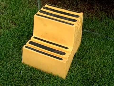 A Large 2 Step Trampoline Step Stool Youtube