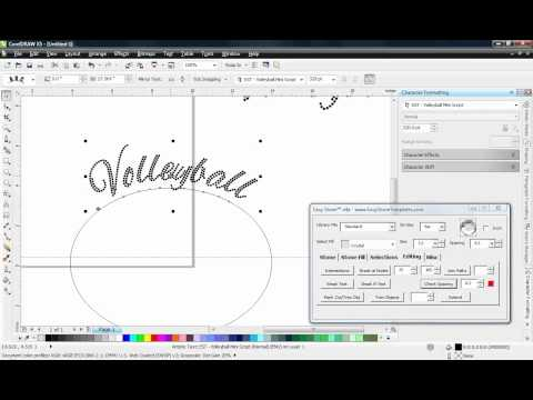 Easy Stone™ Macro - Rhinestone Script Fonts on a Curve