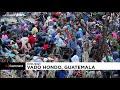 شاهد: عناصر من جيش وشرطة غواتيمالا يشتبكون اشتباكاً عنيفاً مع مهاجرين من هندوراس…