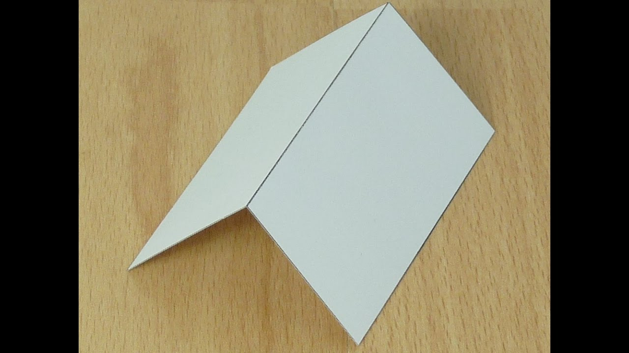 How to Make a Mountain Fold (Origami)