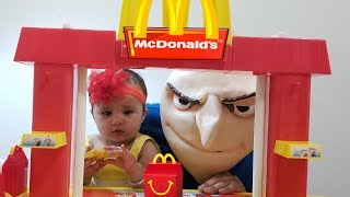 Kids Pretend Play with McDonalds playset | Happy Meal Fun with Gru | Jai Bista Show