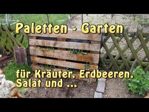 Paletten Garten - Vertical Gardening