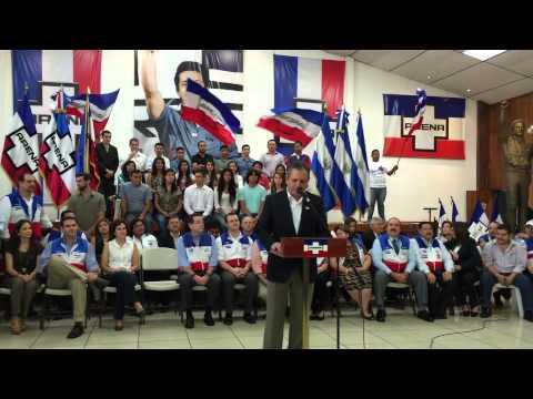 Presentación de Edwin Zamora futuro alcalde de San Salvador