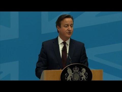 As migration soars, UK's Cameron sets red line in EU talks