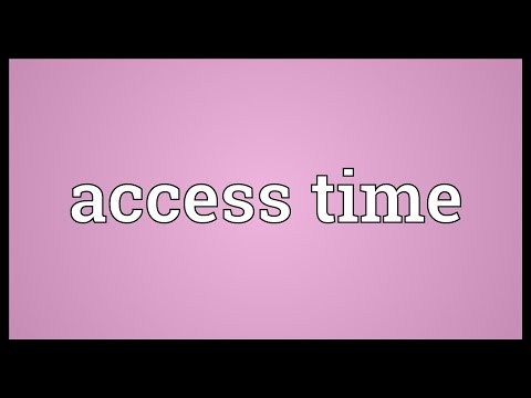 Header of access time