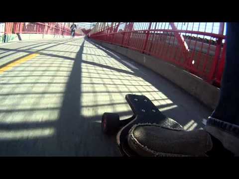 Longboarding NYC Williamsburg Bridge