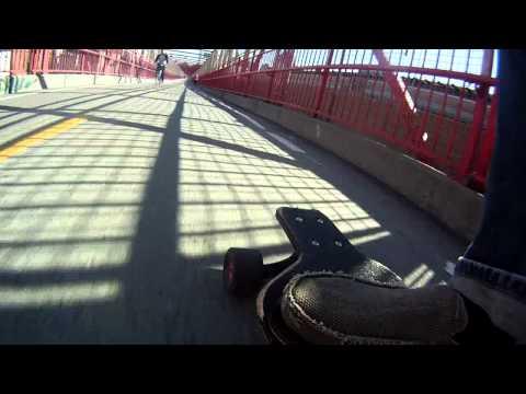 Longboarding NYC Williamsburg Bridge