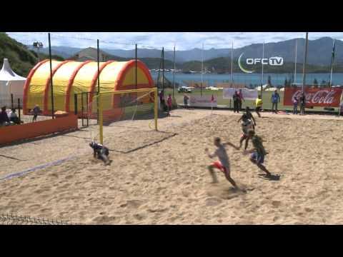 2013 OFC Beach Soccer Championship Match 3 New Caledonia vs Solomon Islands Highlights
