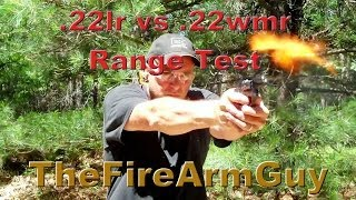 .22 long rifle vs .22 magnum - Ammo Comparison Range Test - TheFireArmGuy