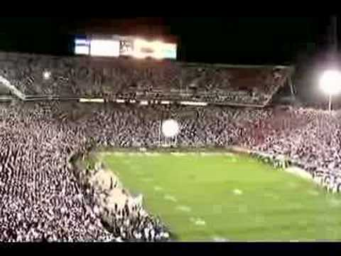 This is the Nittany Lion leading the 4 corners of the stadium in a pre-game cheer. From the Penn State- Ohio State game '07